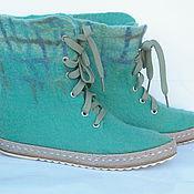 Обувь ручной работы. Ярмарка Мастеров - ручная работа Шелковые демисезонные сапожки в клеточку. Handmade.