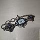 Кварцевые часы  с серебряным браслетом ручной работы с натуральными камнями - аметистом и хризолитом и фианитами выполнены в винтажном стиле.