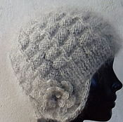 Аксессуары handmade. Livemaster - original item Down knit hat. Handmade.