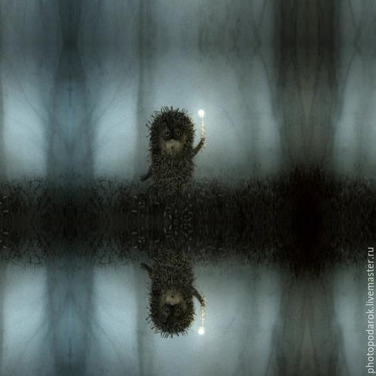 """Шарфы и шарфики ручной работы. Ярмарка Мастеров - ручная работа. Купить Платок """"Ёжик в тумане"""". Handmade. Разноцветный, ежик в тумане"""