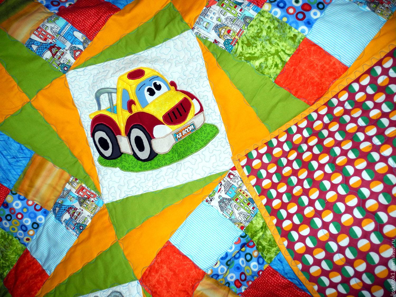 Детское одеяло лоскутное