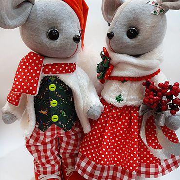 Dolls & toys handmade. Livemaster - original item Toys: mouse Christmas. Handmade.