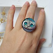 Украшения handmade. Livemaster - original item Vintage Large Ring Cheshire cat Alice in Wonderland. Handmade.