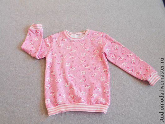 Спортивная одежда ручной работы. Ярмарка Мастеров - ручная работа. Купить Толстовка Розовый мишка,распродажа. Handmade. Бледно-розовый