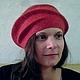 """Шляпы ручной работы. Ярмарка Мастеров - ручная работа. Купить шляпка """" Далия """". Handmade. Коралловый, шерсть"""