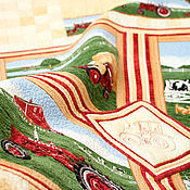 """Для дома и интерьера ручной работы. Ярмарка Мастеров - ручная работа Детское одеяло """"Любителю тракторов..."""". Handmade."""
