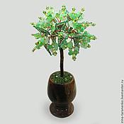 Цветы и флористика handmade. Livemaster - original item Tree of olivine in a vase of onyx