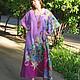 Пляжные платья ручной работы. Сиреневое пляжное платье. МАРГАРИТА - М. Ярмарка Мастеров. Свободное платье, фуксия