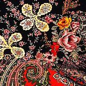 Материалы для творчества handmade. Livemaster - original item Fabric: Italian tight cotton knit with floral print. Handmade.