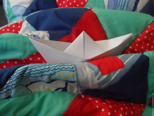 """Пледы и одеяла ручной работы. Ярмарка Мастеров - ручная работа. Купить Именное одеяло """"Морячок"""". Handmade. Синий, морская тематика"""