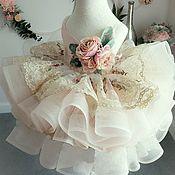 Платья ручной работы. Ярмарка Мастеров - ручная работа Детское нарядное платье К024. Handmade.
