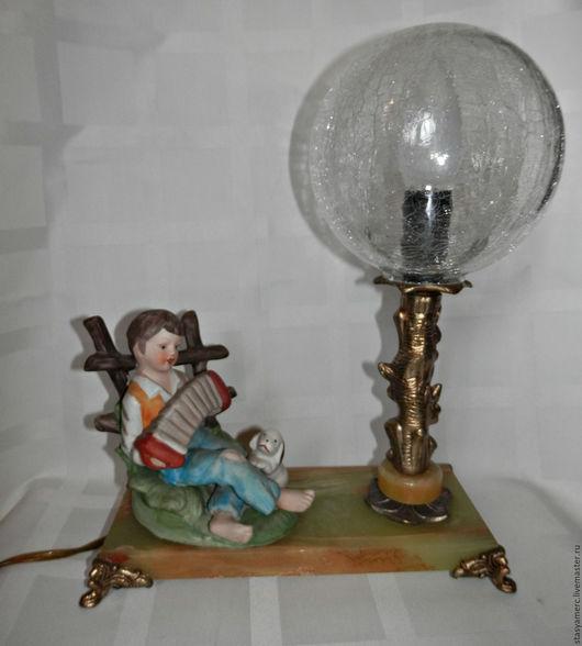 Винтажные предметы интерьера. Ярмарка Мастеров - ручная работа. Купить Винтажная   лампа светильник ночник. Handmade. Лампа, освещение, фарфор