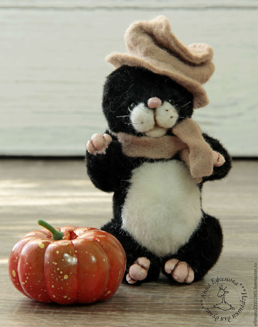 """Мишки Тедди ручной работы. Ярмарка Мастеров - ручная работа. Купить Мистер """" Крот"""". Handmade. Черный, подарок, синтепух"""