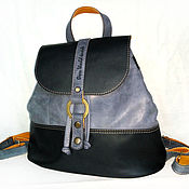 Сумки и аксессуары handmade. Livemaster - original item Backpack made of genuine leather, female