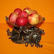 Для дома и интерьера ручной работы. Ярмарка Мастеров - ручная работа Кованая подставка для фруктов. Handmade.
