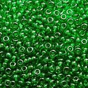 Материалы для творчества handmade. Livemaster - original item 10 grams of 10/0 seed Beads, Czech Preciosa 50060 Premium bright green.. Handmade.