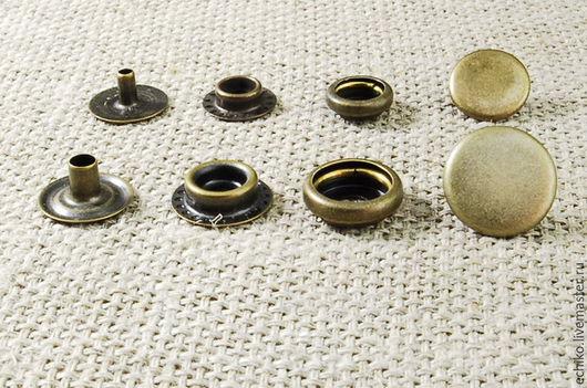 """Другие виды рукоделия ручной работы. Ярмарка Мастеров - ручная работа. Купить 12.5 мм Кнопки тип """"Кольцо"""". Handmade."""