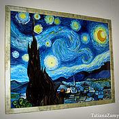 """Картины и панно ручной работы. Ярмарка Мастеров - ручная работа Картина по мотивам В. Ван Гога """"Звездная ночь"""". Handmade."""
