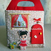 Куклы и игрушки ручной работы. Ярмарка Мастеров - ручная работа Домик-книжка с куколкой. Handmade.