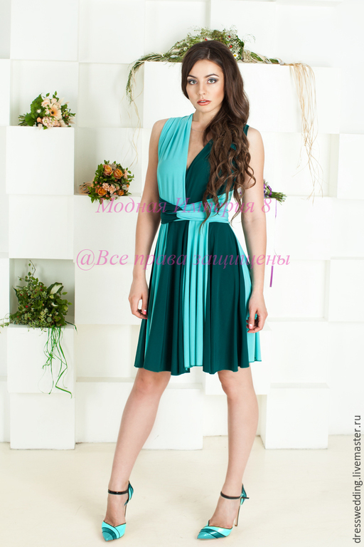 Короткое вечернее летнее платье фото