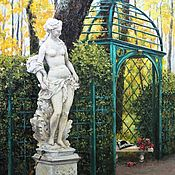 Картины и панно handmade. Livemaster - original item Summer garden. 60h80 cm. Oil painting. Handmade.