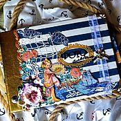 Канцелярские товары handmade. Livemaster - original item Photobook in marine style. Handmade.