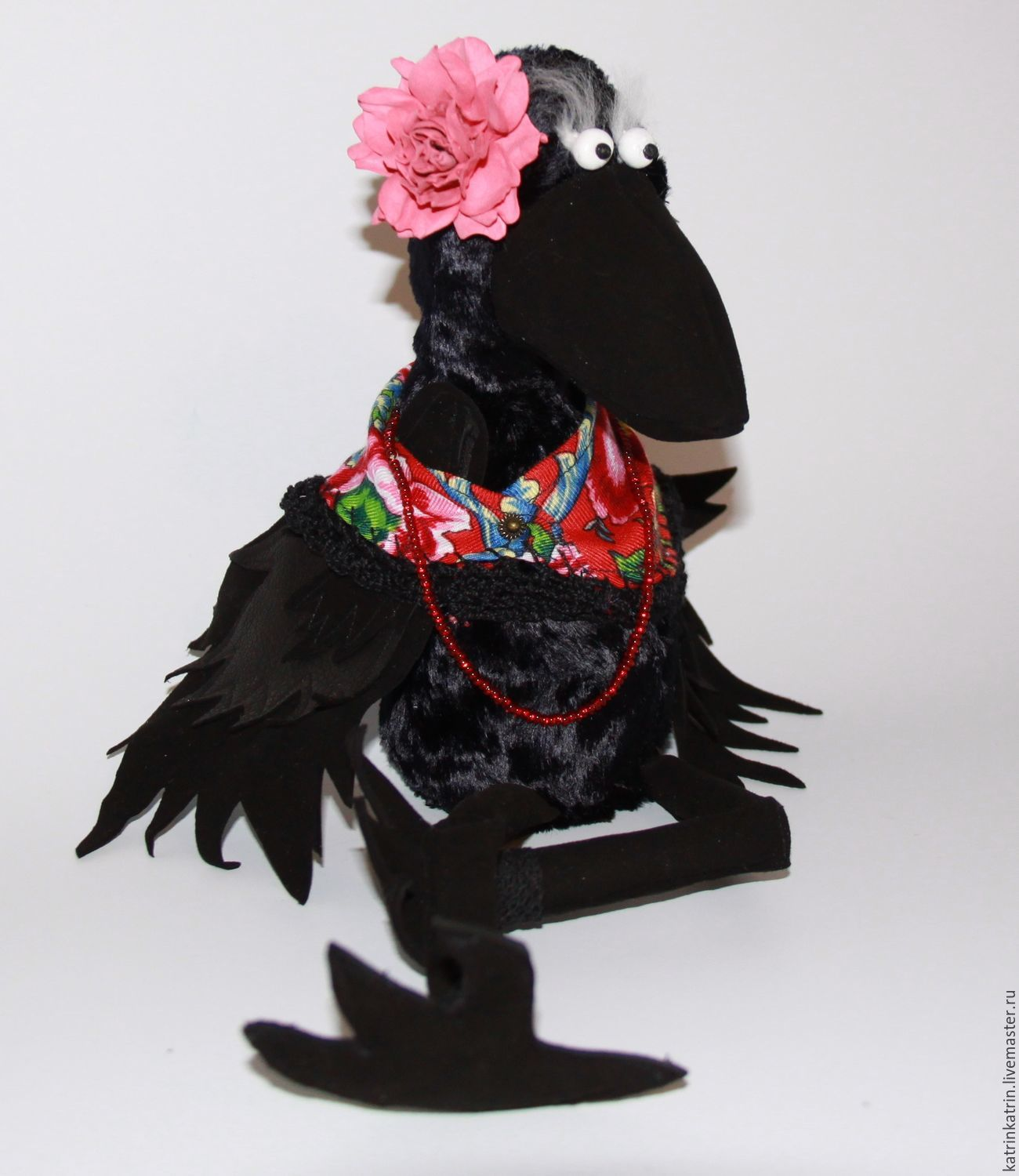 Mrs. Catherine Crow / Art Doll / handmade and unique / with ow, Stuffed Toys, St. Petersburg,  Фото №1