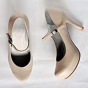 Обувь ручной работы. Ярмарка Мастеров - ручная работа Туфли с ремешком. Handmade.