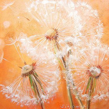 Картины и панно ручной работы. Ярмарка Мастеров - ручная работа Солнечное лето - правая сторона диптиха. Handmade.