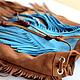 Индейская сумка / кожаная сумочка с бахромой