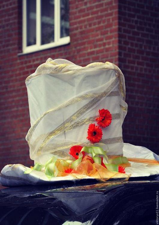 Свадебные цветы ручной работы. Ярмарка Мастеров - ручная работа. Купить Две шляпки с  креплениями на Ваши авто!. Handmade. Разноцветный