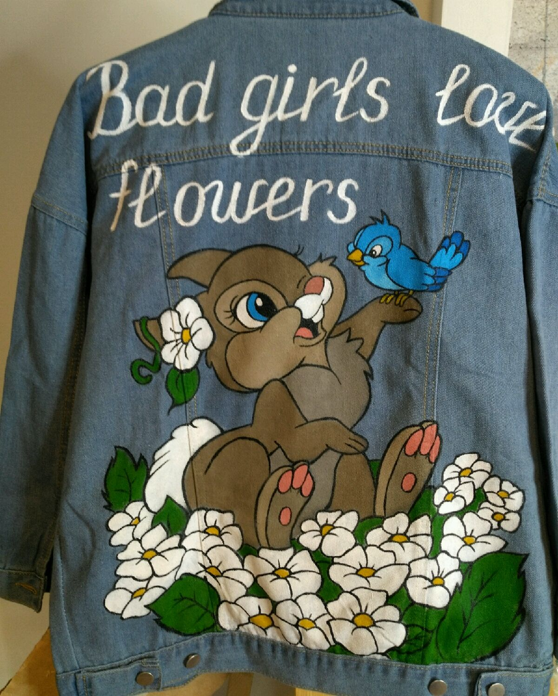 Джинсовая куртка с ручной росписью, Ветровки, Раменское,  Фото №1