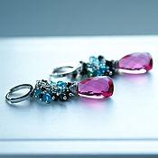 Украшения handmade. Livemaster - original item Earrings with Apatite, spinel and quartz. Handmade.