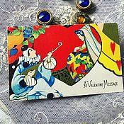 Винтажные книги ручной работы. Ярмарка Мастеров - ручная работа Антикварная открытка. Handmade.