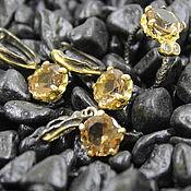 Украшения handmade. Livemaster - original item Jewelry set black silver and sultanic. Handmade.