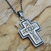 handmade. Livemaster - original item Male-female cross made of 925 sterling silver HH0065. Handmade.