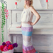 Одежда ручной работы. Ярмарка Мастеров - ручная работа Вязаная крючком летняя юбка. Handmade.