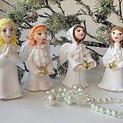 Подарки к праздникам ручной работы. Ярмарка Мастеров - ручная работа Рождественские ангелочки. Handmade.