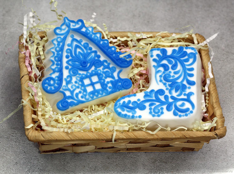 Набор мыла новогодний Морозные узоры, Мыло, Москва, Фото №1