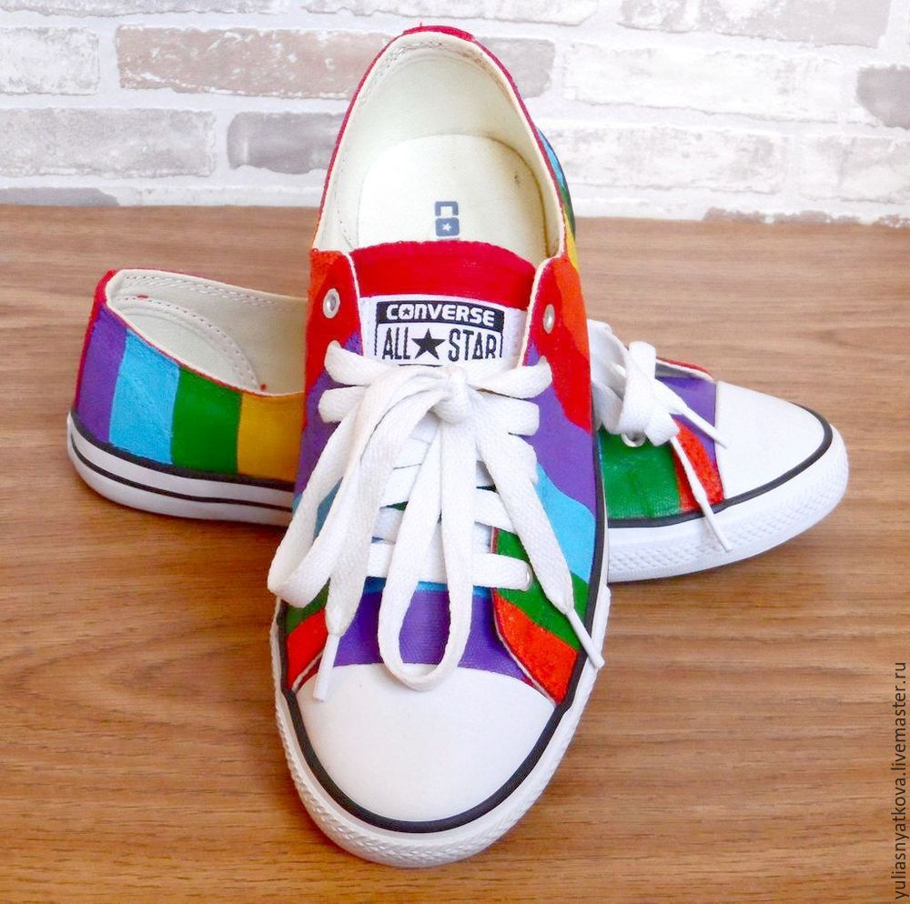 342e412222c3dc ... hot made handmade shoes handmade. order converse shoes hand painted  rainbow shoes custom sneakers.