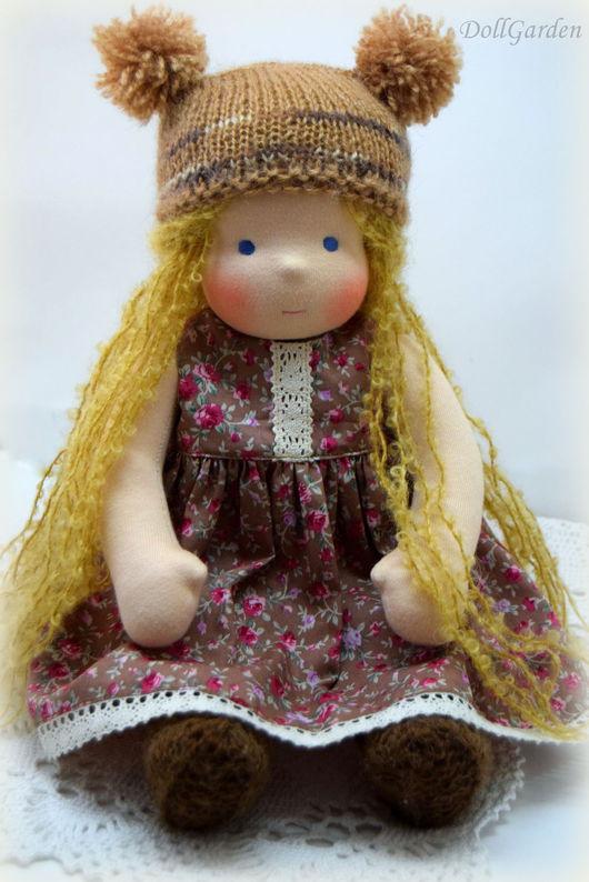 Вальдорфская игрушка ручной работы. Ярмарка Мастеров - ручная работа. Купить Нюрочка, вальдорфская кукла. Handmade. Коричневый, игровая кукла