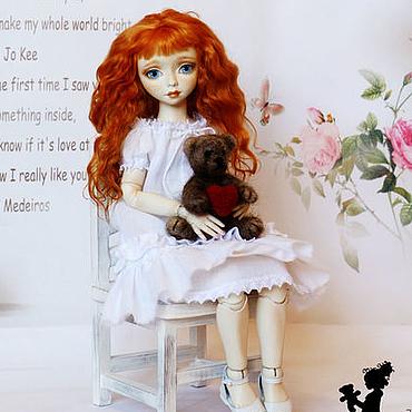 Куклы и игрушки ручной работы. Ярмарка Мастеров - ручная работа Шарнирная кукла Аришка. Handmade.