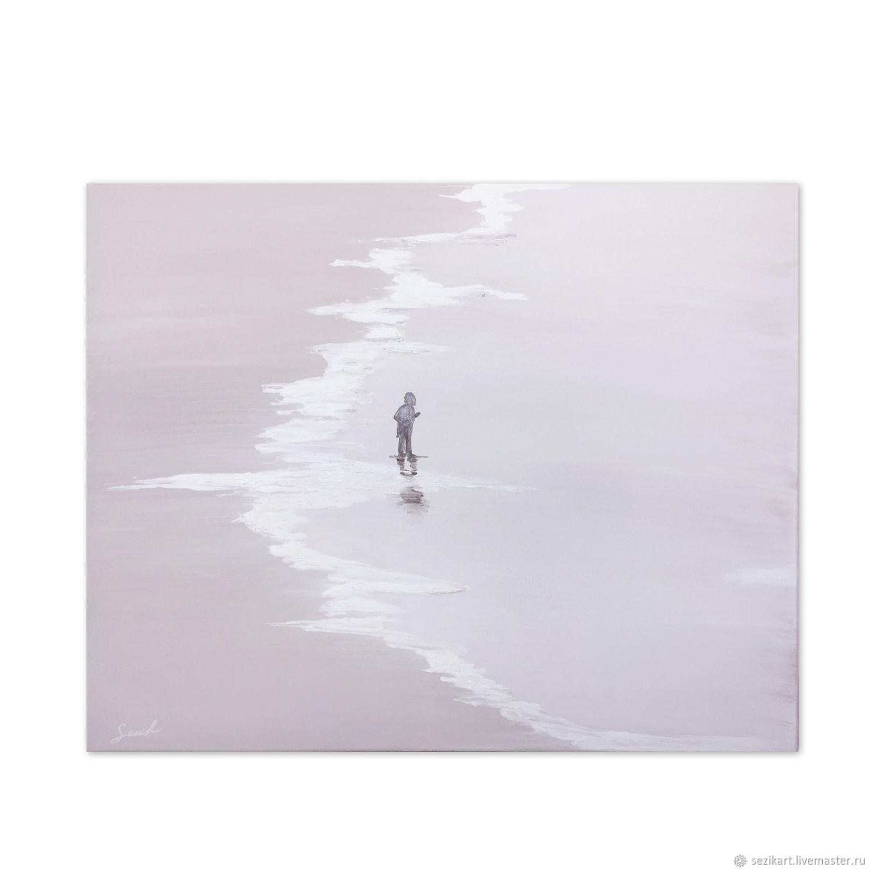Абстракция ручной работы. Ярмарка Мастеров - ручная работа. Купить Момент спокойствия. Handmade. Море, картина, черный, подарок на свадьбу