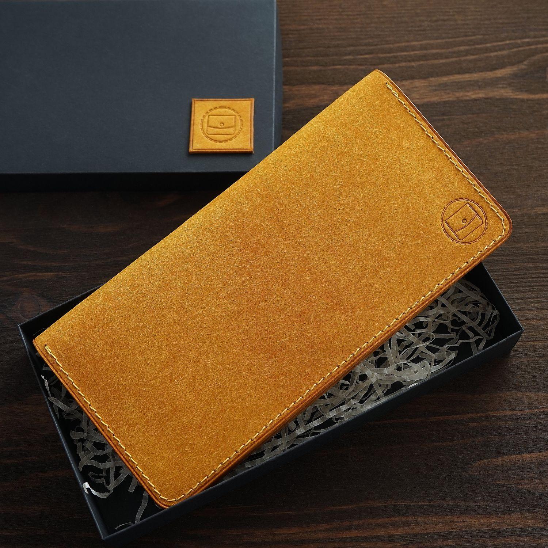 Leather wallet Yellow mustard women's zipper longer, Wallets, Yaroslavl,  Фото №1