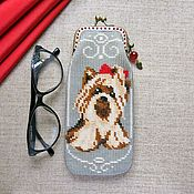 Сумки и аксессуары handmade. Livemaster - original item eyeglass case: York Terrier.. Handmade.