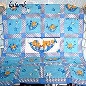 Для дома и интерьера ручной работы. Ярмарка Мастеров - ручная работа Детское одеяло Мишки Тедди. Handmade.
