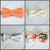 Галстуки ручной работы. Ярмарка Мастеров - ручная работа Галстук бабочка в тонах персика, айвори, белый галстук-бабочка. Handmade.