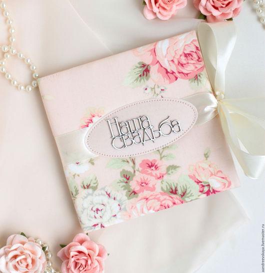 """Подарки на свадьбу ручной работы. Ярмарка Мастеров - ручная работа. Купить Конверт (бокс) для двух дисков """"Наша свадьба"""" розовый. Handmade."""