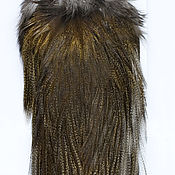 Материалы для творчества ручной работы. Ярмарка Мастеров - ручная работа Перья Coq de Leon Silver Rooster Saddle (51202044). Handmade.