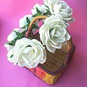 Украшения ручной работы. Ярмарка Мастеров - ручная работа Венок на голову с белыми розами из фоамирана.. Handmade.